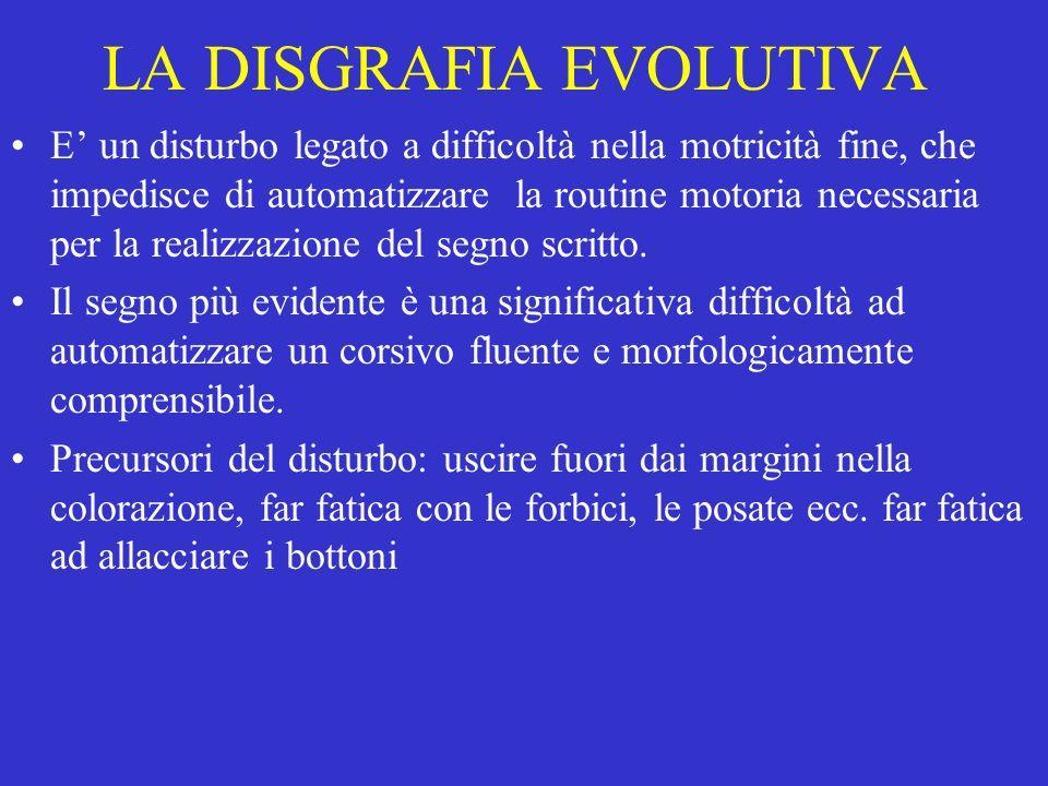 LA DISGRAFIA EVOLUTIVA