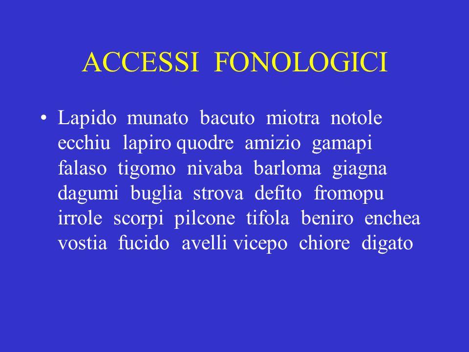 ACCESSI FONOLOGICI