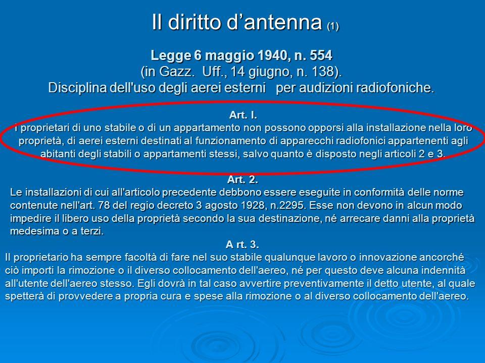 Il diritto d'antenna (1)