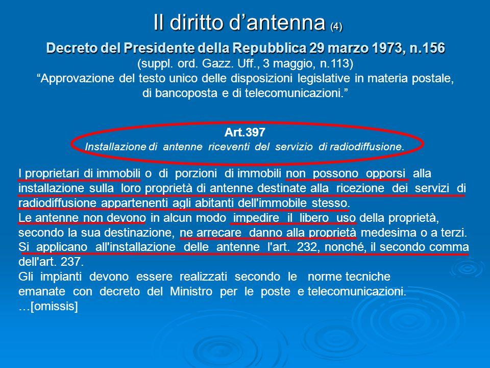 Il diritto d'antenna (4)