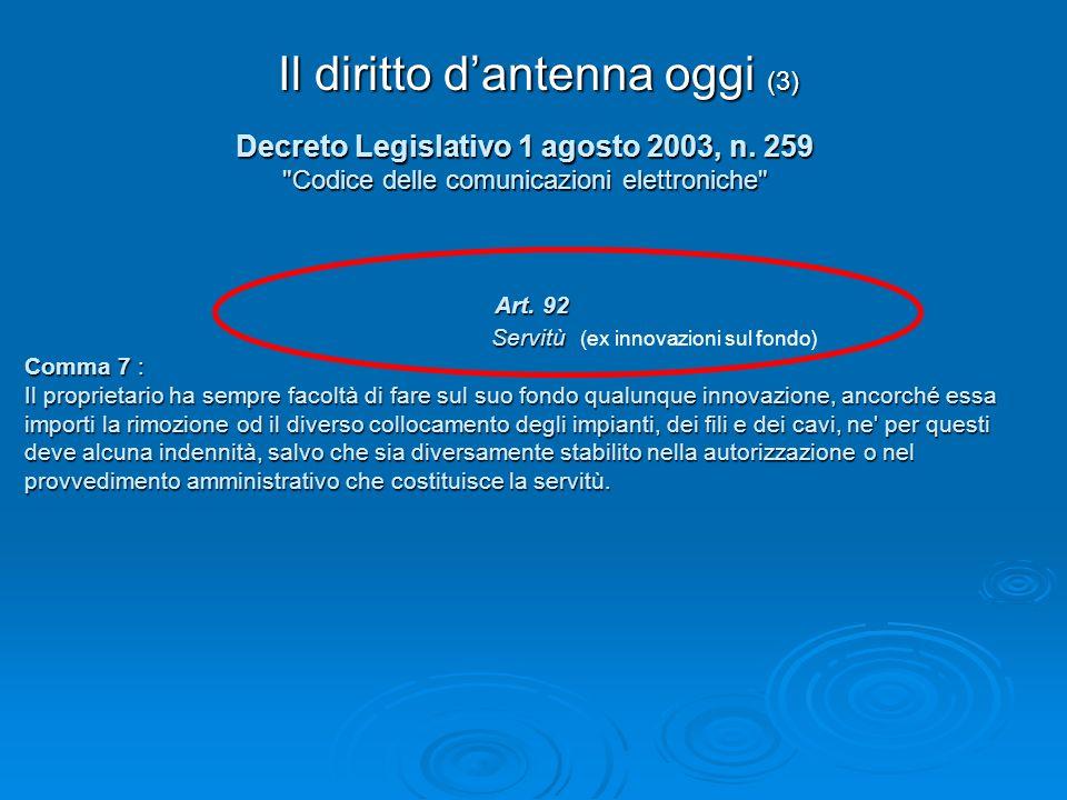 Decreto Legislativo 1 agosto 2003, n. 259