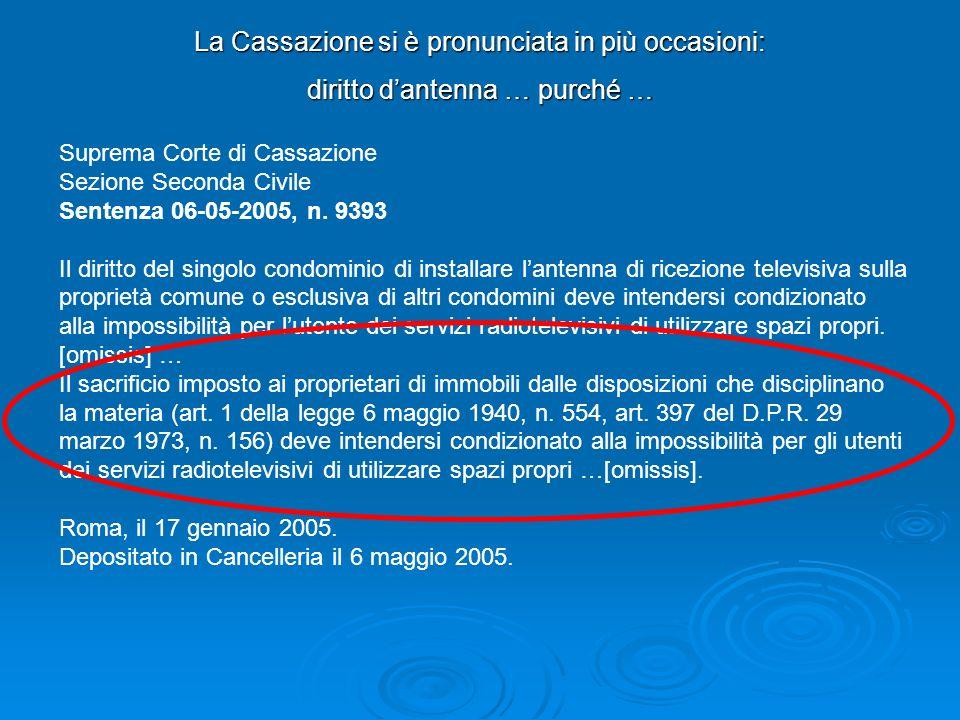 La Cassazione si è pronunciata in più occasioni: