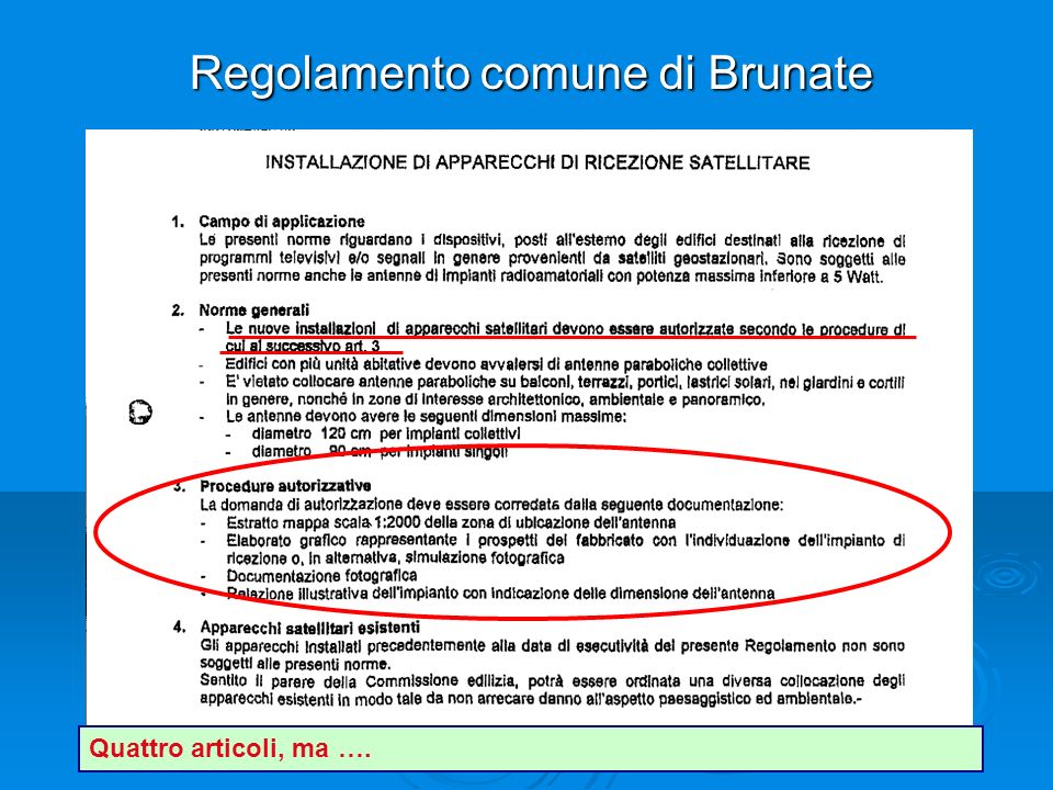 Regolamento comune di Brunate