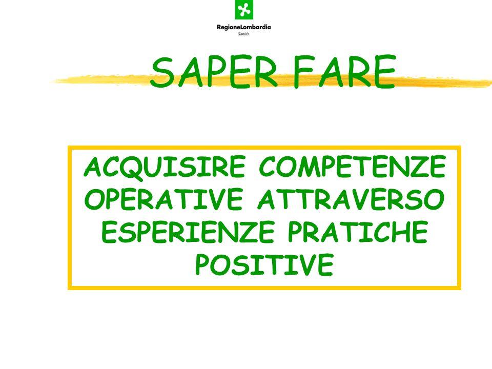 ACQUISIRE COMPETENZE OPERATIVE ATTRAVERSO ESPERIENZE PRATICHE POSITIVE
