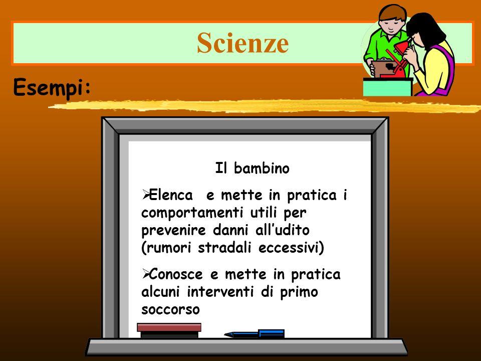 Scienze Esempi: Il bambino