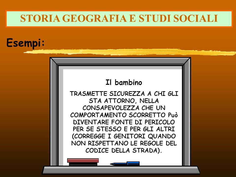 STORIA GEOGRAFIA E STUDI SOCIALI