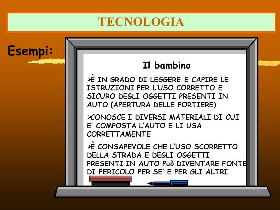 TECNOLOGIA Esempi: Il bambino
