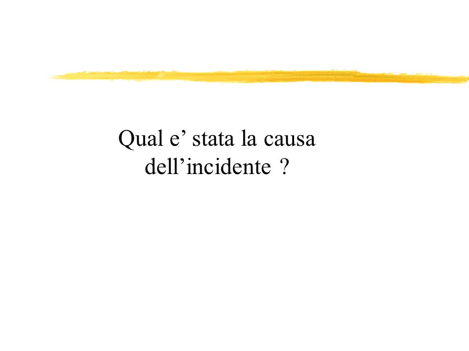Qual e' stata la causa dell'incidente