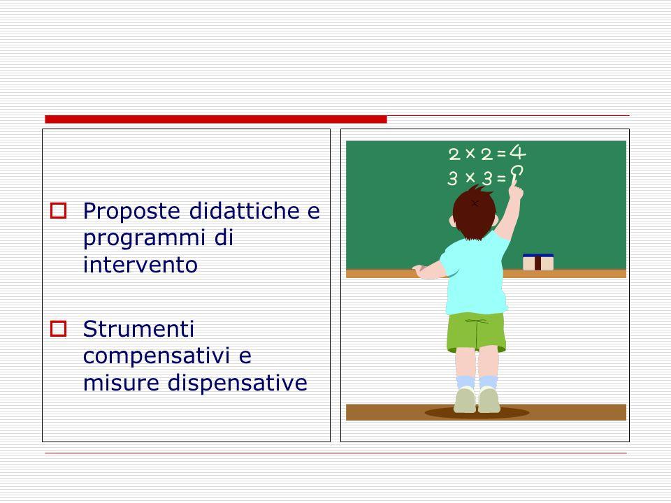 Proposte didattiche e programmi di intervento