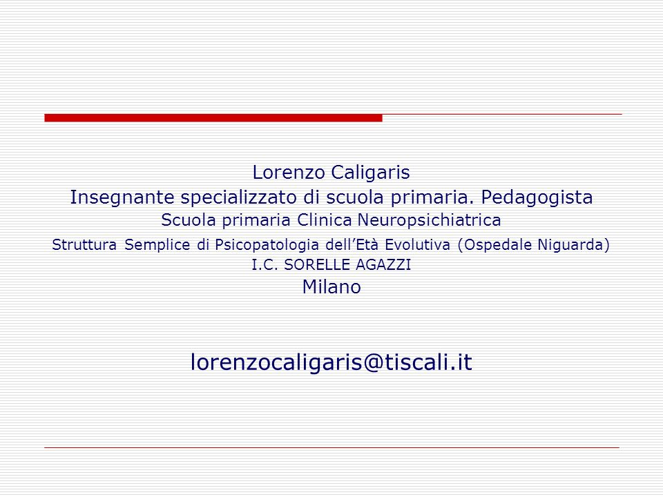 lorenzocaligaris@tiscali.it Lorenzo Caligaris