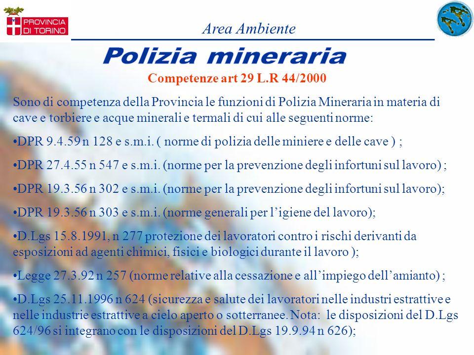 Area Ambiente Competenze art 29 L.R 44/2000