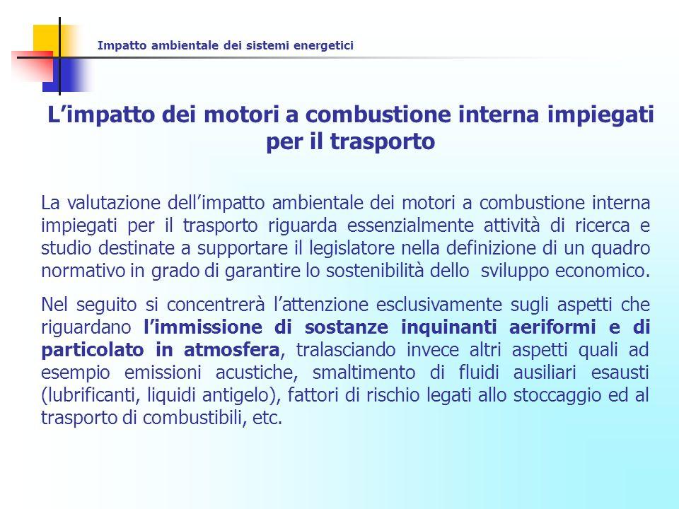 L'impatto dei motori a combustione interna impiegati per il trasporto
