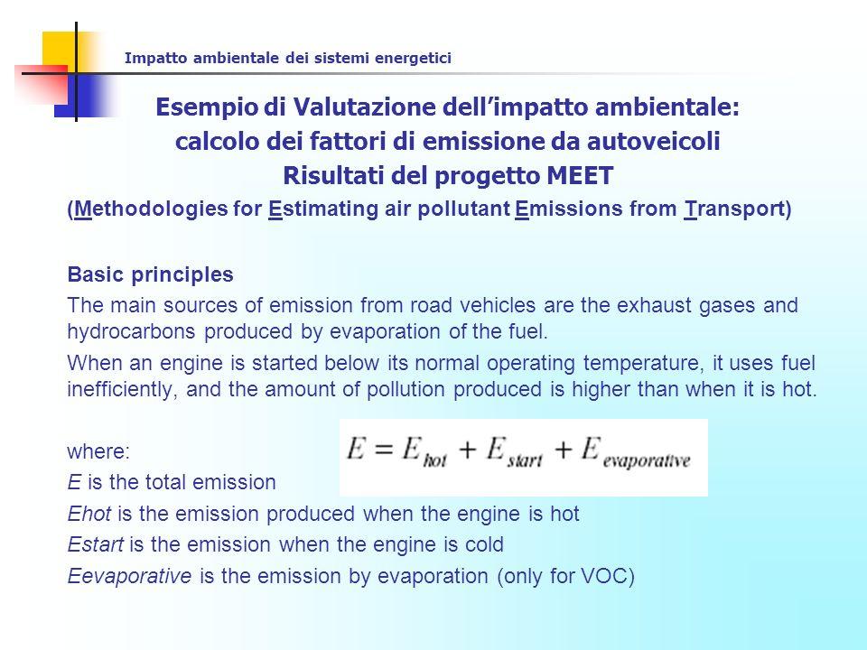 Esempio di Valutazione dell'impatto ambientale: