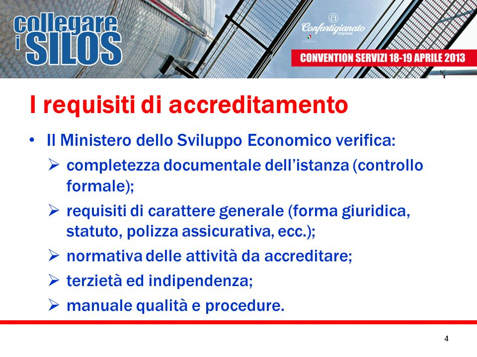 I requisiti di accreditamento