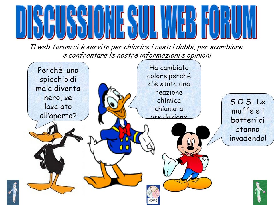 DISCUSSIONE SUL WEB FORUM
