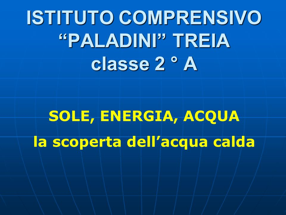 ISTITUTO COMPRENSIVO PALADINI TREIA classe 2 ° A