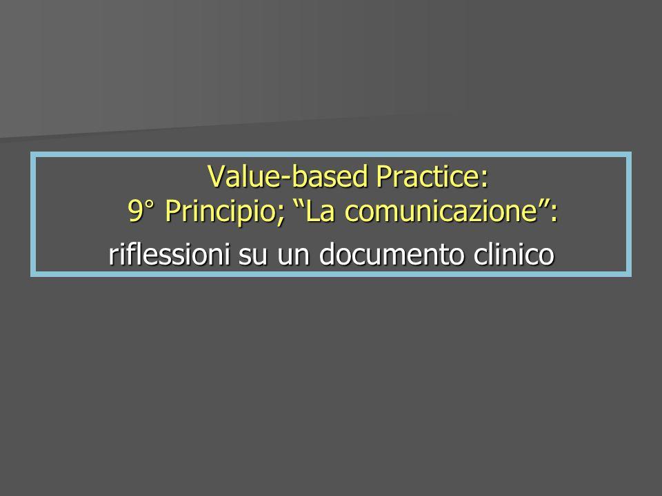 riflessioni su un documento clinico