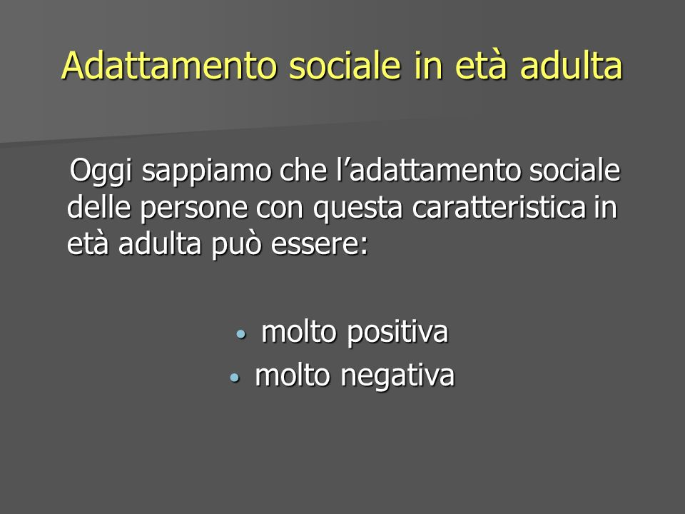 Adattamento sociale in età adulta