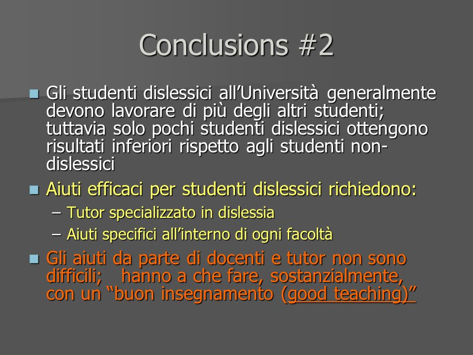 Conclusions #2