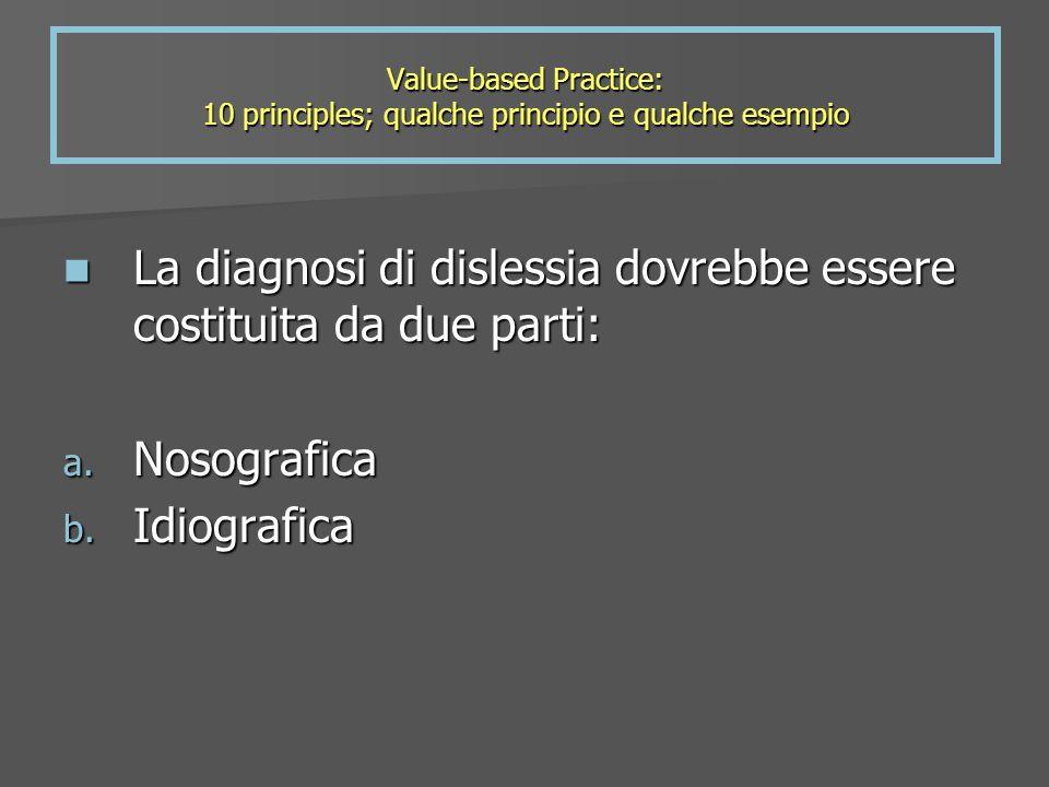 La diagnosi di dislessia dovrebbe essere costituita da due parti: