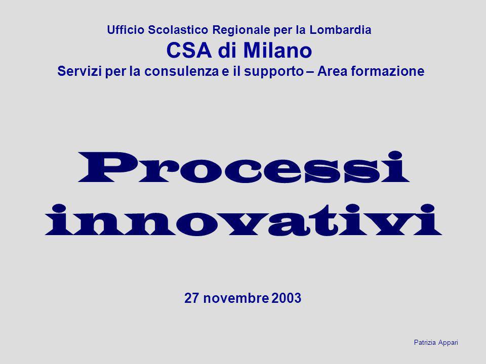 Processi innovativi 27 novembre 2003