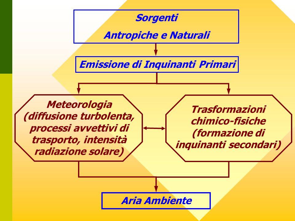 Emissione di Inquinanti Primari (formazione di inquinanti secondari)