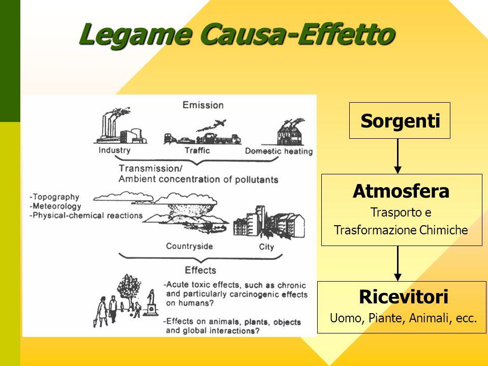 Legame Causa-Effetto Sorgenti Atmosfera Ricevitori Trasporto e