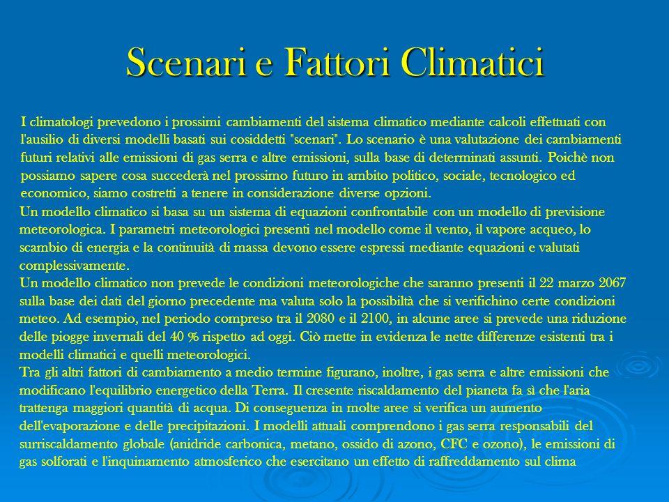 Scenari e Fattori Climatici