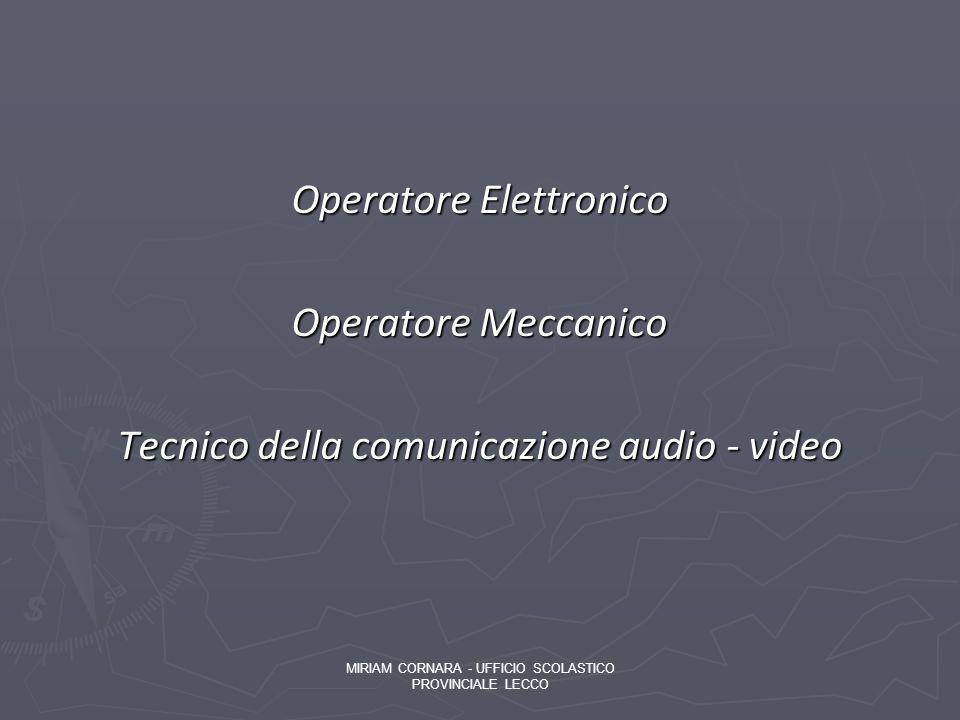 Operatore Elettronico Operatore Meccanico