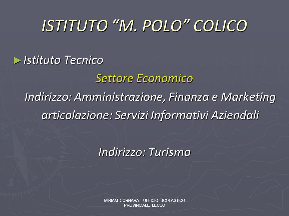 ISTITUTO M. POLO COLICO