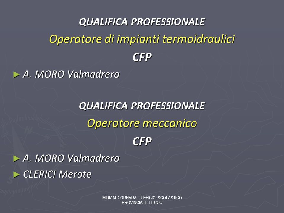 QUALIFICA PROFESSIONALE
