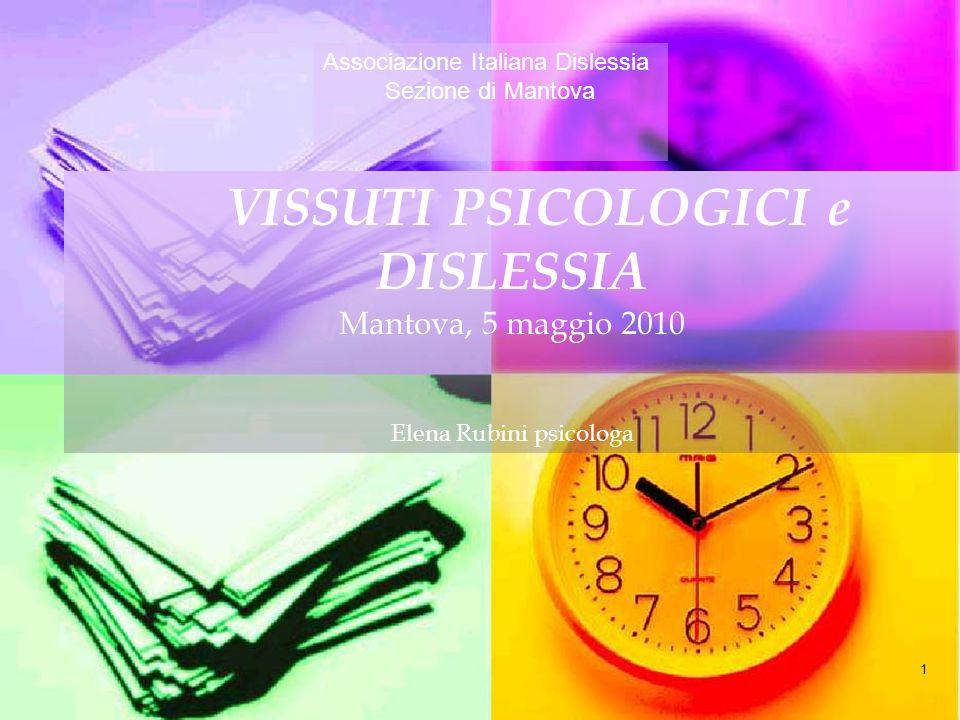 VISSUTI PSICOLOGICI e DISLESSIA
