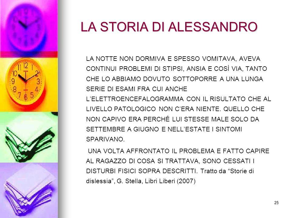 LA STORIA DI ALESSANDRO