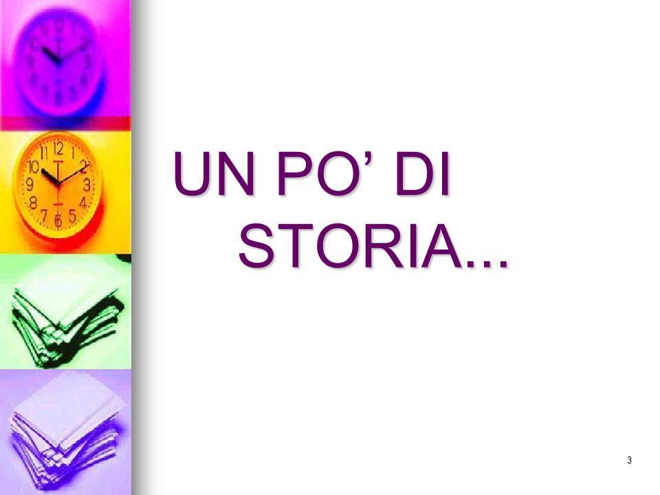 UN PO' DI STORIA...