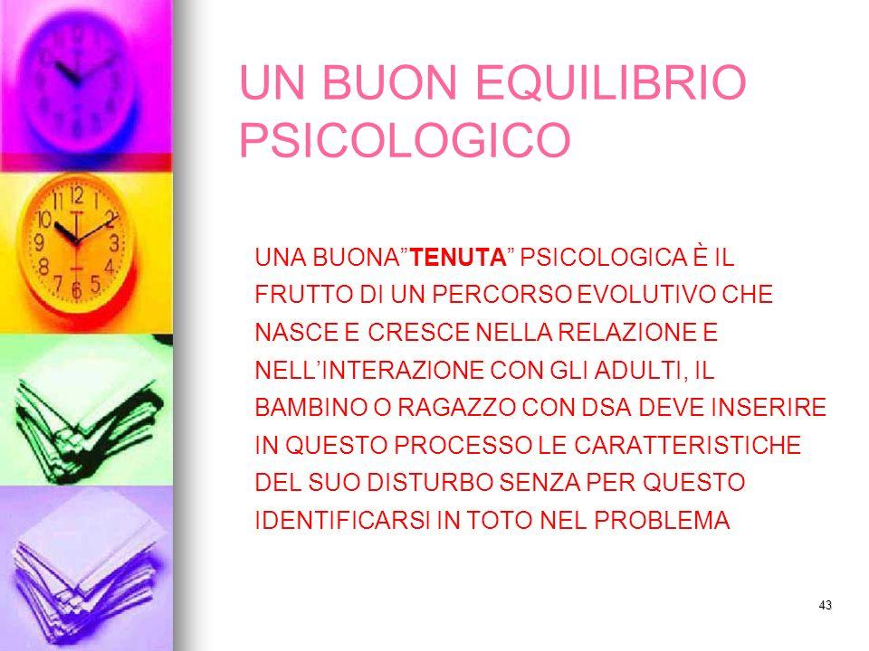 UN BUON EQUILIBRIO PSICOLOGICO