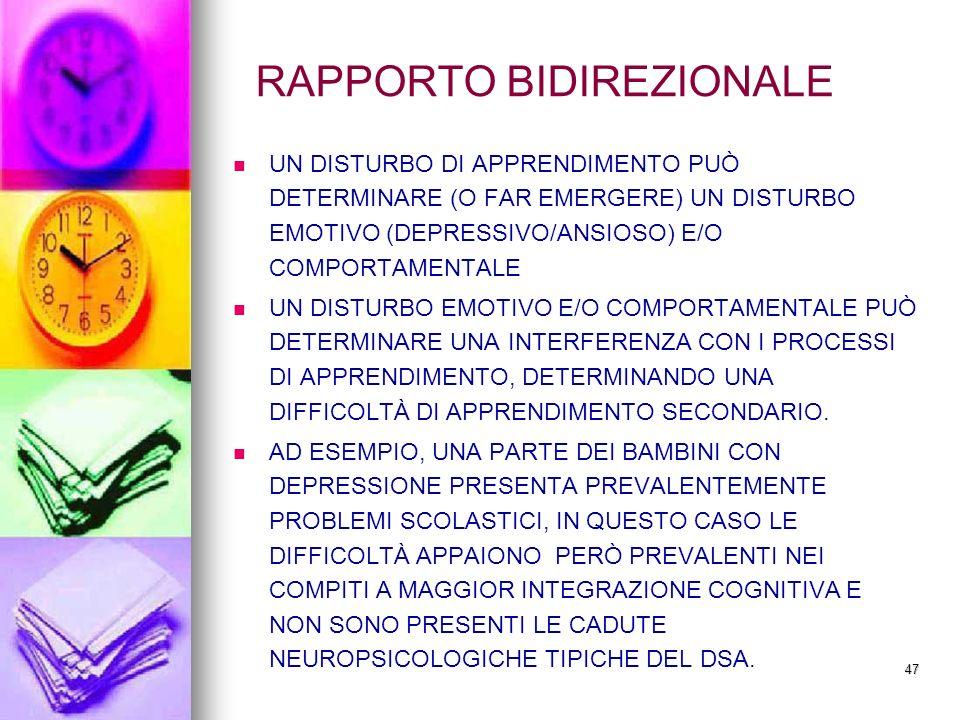 RAPPORTO BIDIREZIONALE