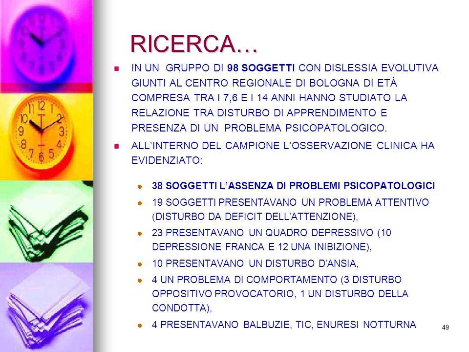 RICERCA…