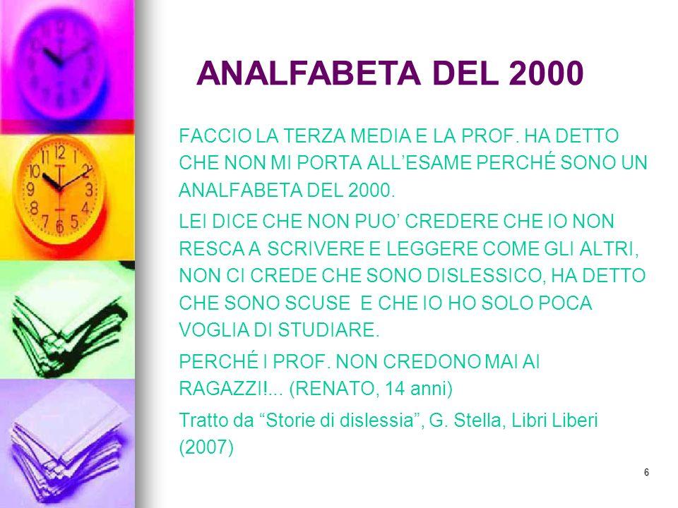 ANALFABETA DEL 2000 FACCIO LA TERZA MEDIA E LA PROF. HA DETTO CHE NON MI PORTA ALL'ESAME PERCHÉ SONO UN ANALFABETA DEL 2000.