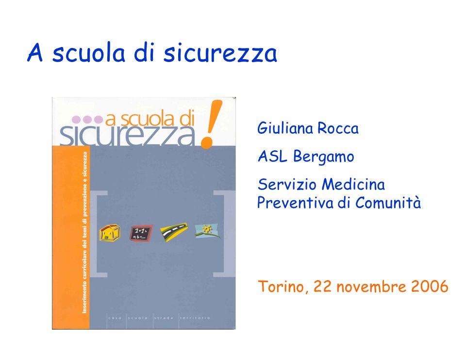 A scuola di sicurezza Giuliana Rocca ASL Bergamo