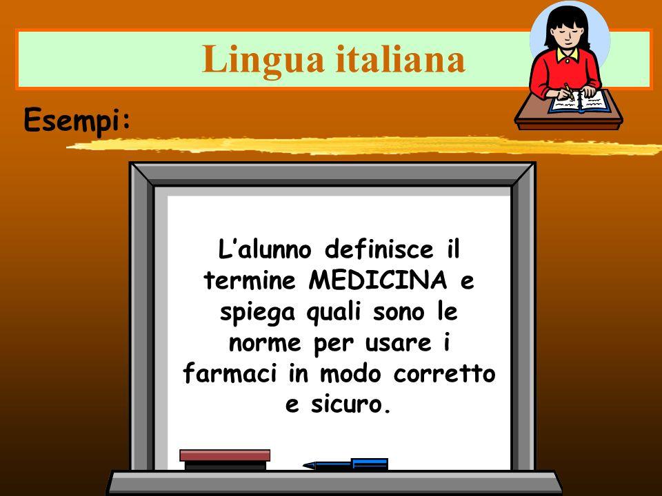 Lingua italiana Esempi: