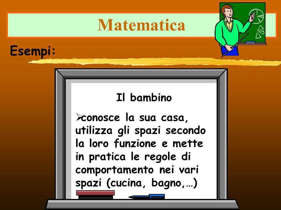 Matematica Esempi: Il bambino