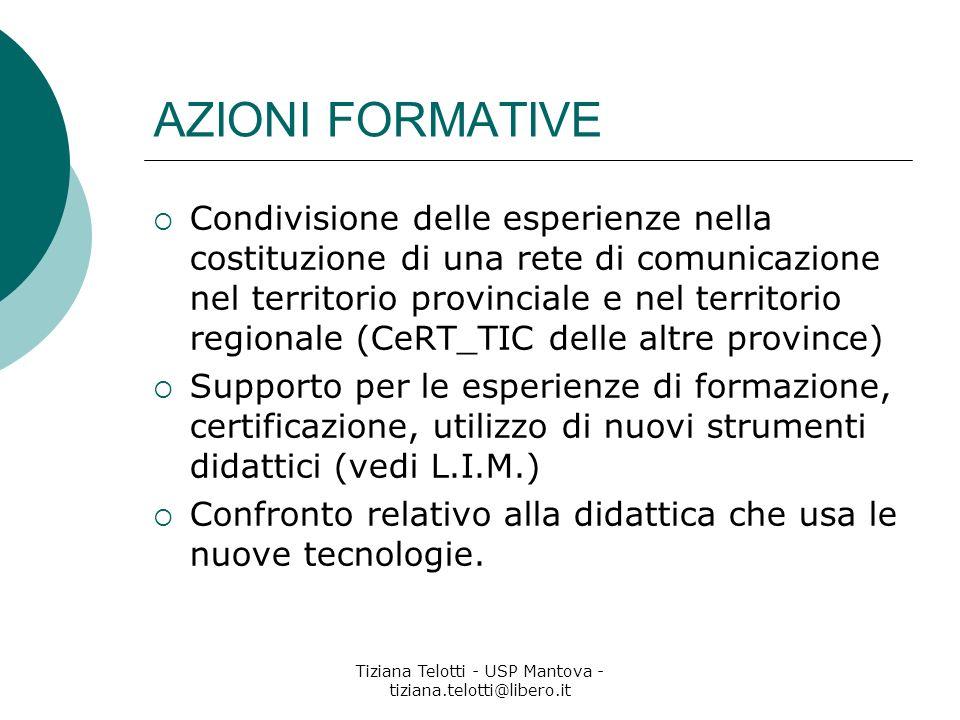 Tiziana Telotti - USP Mantova - tiziana.telotti@libero.it