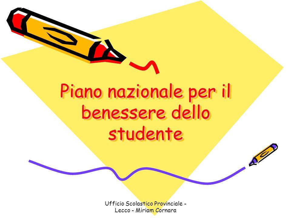 Piano nazionale per il benessere dello studente