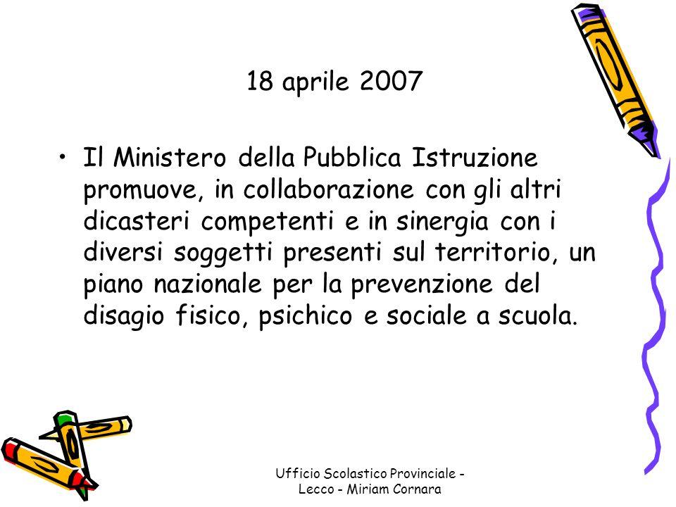 Ufficio Scolastico Provinciale - Lecco - Miriam Cornara