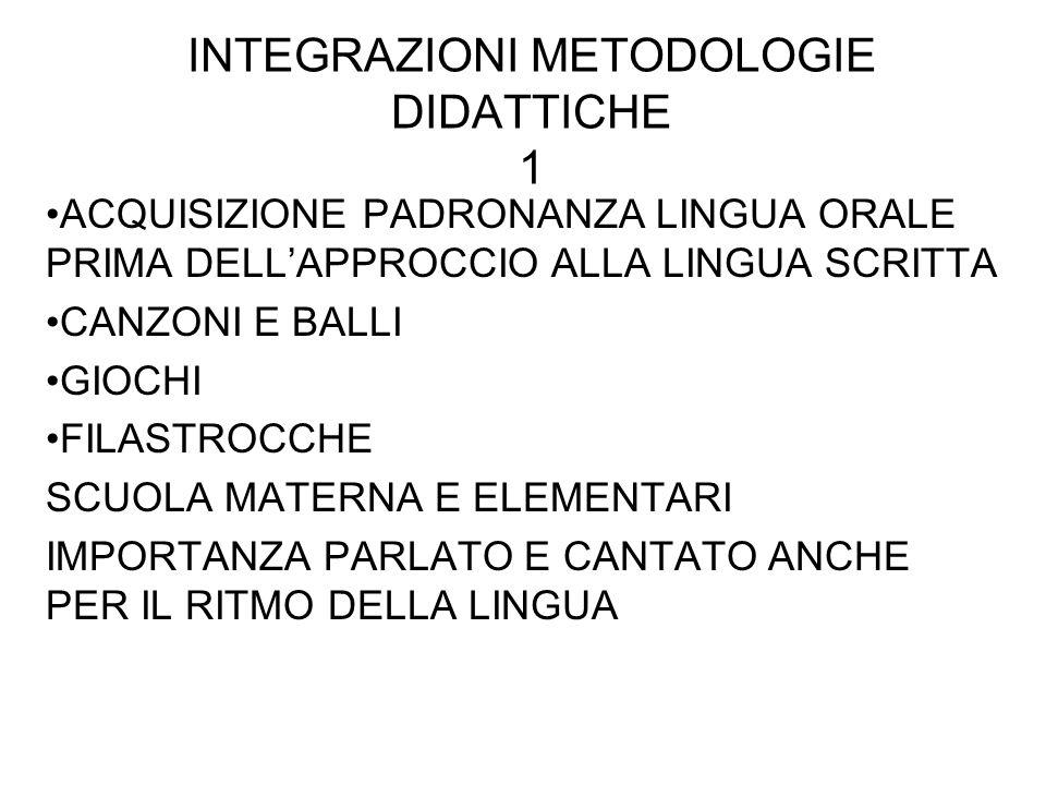 INTEGRAZIONI METODOLOGIE DIDATTICHE 1