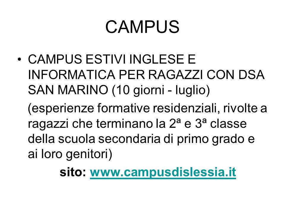 sito: www.campusdislessia.it