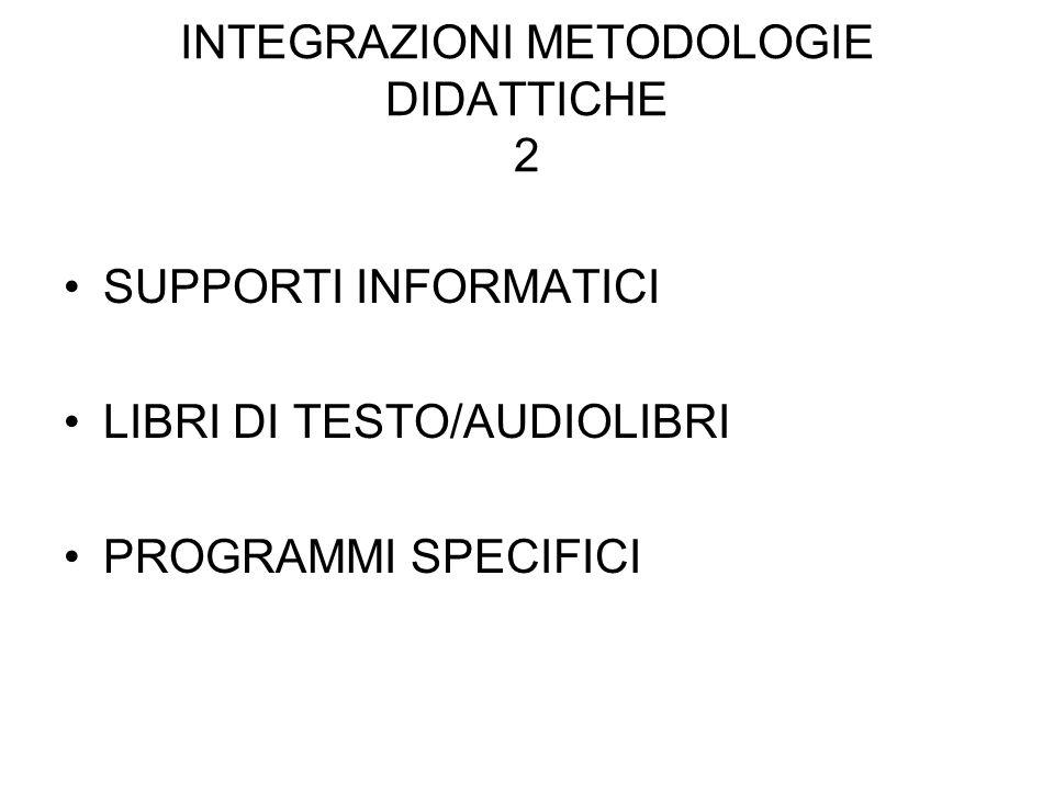 INTEGRAZIONI METODOLOGIE DIDATTICHE 2