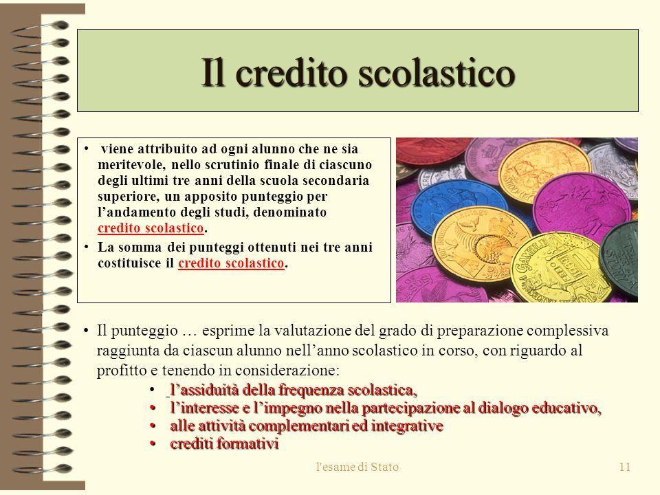 Il credito scolastico