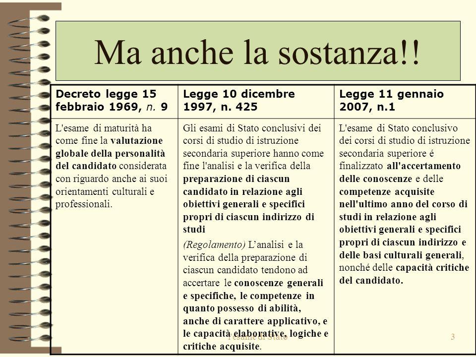 Ma anche la sostanza!! Decreto legge 15 febbraio 1969, n. 9