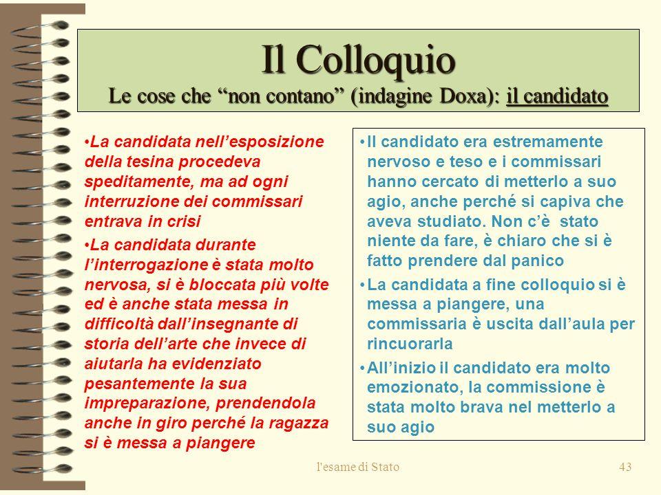 Le cose che non contano (indagine Doxa): il candidato